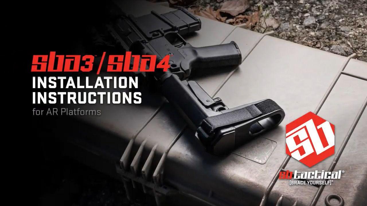 opplanet sb tactical sba3 sba4 installation video