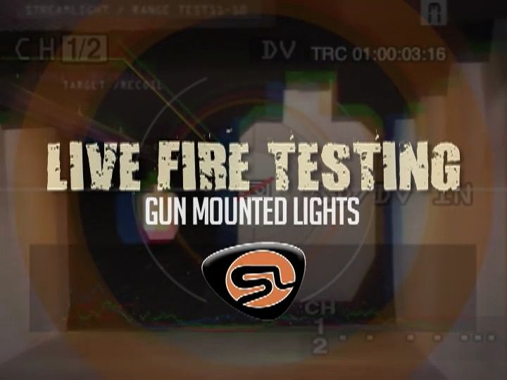 opplanet streamlight live fire testing with gun mounted lights video