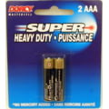 Dorcy AAA Mastercell Heavy Duty Batteries - 2 Per Card 41-1505 - Single Pack OR Case of 10