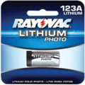 Rayovac Photo Lithium Carded 123a 1-pa 620-RL123A-1