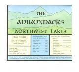 Adirondack Maps: Adirondack Map Northwest Lakes