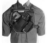 Blackhawk 55US00 U.S.A.R. Radio Chest Harness, Black or Red