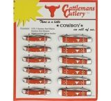 Cattleman'S Cutlery 12- Piece Knives Display Board