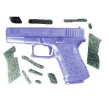Decal Grip Enhancer For Glock 17 w/ Finger Grooves G17FG