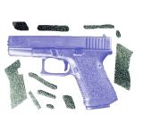 Decal Grip Enhancer For Glock 19 w/ Finger Grooves G19FGR