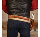 DeSantis Style B48 Butch Cassidy Belt - Leather Gun Belt w/ Cartridge Loops