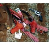 DeSantis Right Hand Tan Doc Holliday Cross Draw Holster 083TC53Z0 - COLT SAA 3in.