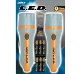 Dorcy 2 Pack - 3AAA 3 LED Optic Flashlight w/ Batteries 41-2505