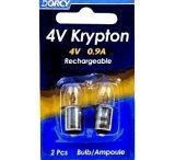 Dorcy Rechargeable Replacement Krypton Bulbs, 2 pack