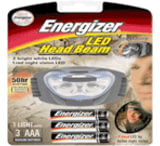 Energizer 3 AAA Head Beam Multi Function 6 LED Headlight w/ Batteries