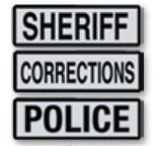 Hatch Black and White Reflective Labels: Police, Sheriff and Corrections