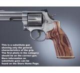 Hogue Ruger GP100/Super Redhawk Handgun Grip Kingwood No Finger Groove Stripe Cap Checkered 80631