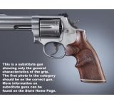 Hogue Ruger GP100/Super Redhawk Handgun Grip Kingwood Top Finger Groove Stripe Cap Checkered 80641