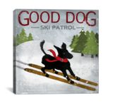 iCanvasART Good Dog Ski Patrol by Good Dog Studios Print, US Made