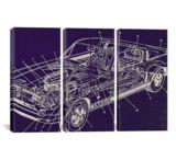 iCanvasART GT Schematics by Fabrizio Canvas Print, US Made
