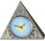 Infinity Masonic Table Clock