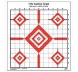 Law Enforcement Targets SI-13 Rifle Sighting Target 14x15 Inch Red/Black 100 Per Case