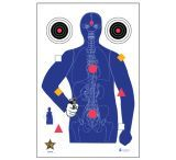 Law Enforcement Targets SSO-99 Modified B-21E Target With Human Anatomy/Bullseyes/Command 23x35 Inch 100 Per Case SSO-99L