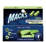 Macks Corded Foam Ear Plugs, 2 Pairs