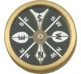 Marbles Large Pocket Compass