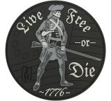 Maxpedition Live Free or Die PVC Morale Patch