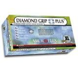 Microflex Diamond Grip Plus Latex Gloves, Microflex DGP-350-XS