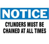 Brady 3inx5in Notice Chain Cylinders 262-60314