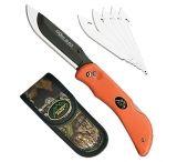 """Outdoor Edge RB20C Razor-Lite Knife 3.5"""" 420J Steel W/Sheath Rubberized Orange"""