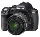 Pentax K-50 DSLR Camera Kit with L18-55 WR Lens, Black