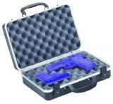 "Plano Molding Double Pistol Case w/ Key Locks - 13.7"" x 8.6"" x 3.8"""