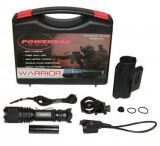 PowerTac Warrior Weapon Package - 650 Lumen LED Flashlight w/ Gun Mount & Pressure Switch