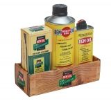 Remington 18004 100th Anniversary Replicas Rem-Oil Faux Wood Box Combo 3-Pk Kit