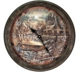 River's Edge 15in. Diameter Metal Clock