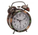 River's Edge Steel Alarm Clock, Fall Transition Camo, 4in. Tall
