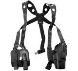 Safariland 1051 ALS Shoulder Holster System - Plain Black, Right Hand 1051-383-61