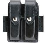 Safariland 77 Double Handgun Magazine Pouch - Plain Black, Ambidextrous 77-383-2HS