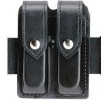 Safariland 77 Double Handgun Magazine Pouch - Plain Black, Ambidextrous 77-53-2HS