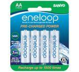 Sanyo Eneloop 4 Pack Rechargeable AA Batteries