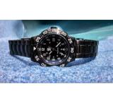 Smith&Bradley Ltd. Atlantis PVD Black-Coated 43mm Watch, USA Made