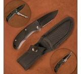 Stone River Gear Ceramic Hunting Knife w/ Retractable Blade Protector & Nylon Sheath