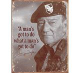 Tin Signs John Wayne Man's Tin Sign
