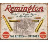 Tin Signs Remington For Rifles Tin Sign