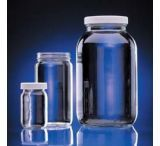 Wheaton Clear Wide Mouth Bottle, Polypropylene Cap 4OZ,Case of 24, W216924