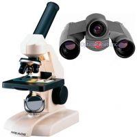 2-PC Student Exploration Package - Meade 8200 Microscope and Simmons 8x22 Binocular Digital Camera VGA 822217