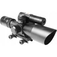 AIM Sports 2.5-10X40 Dual Illuminated Riflescope w/ Green Laser