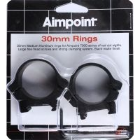 AimPoint 30mm Rings, Wide Stainless, Camo or Black