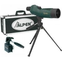 Alpen 15-30x50 Waterproof Spotting Scope, Tripod Car Window Mount, Travel Case 730KIT
