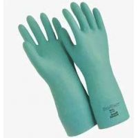 """Ansell Healthcare Sol-Vex Nitrile Gloves, Ansell 117275 33 Cm (13"""") Length, 15 Mil Thickness, Flock-Lined"""
