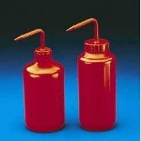 Bel-Art Red Wash Bottles, Low-Density Polyethylene 004830500