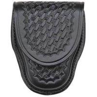 Bianchi 35P Covered Cuff Case - Plain Black, Brass 13754